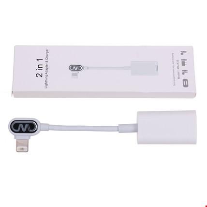 iPhone Lightning Kulaklık ve Şarj Girişli 2li L Adaptör Kablosu
