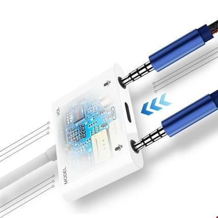 Type-C Harici Stereo Ses Kartı Kulaklık Şarj Girişli Adaptörü