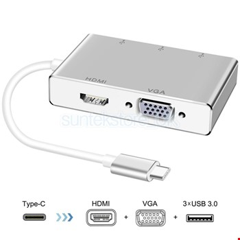 Mini DisplayPort to Hdmi Dvi Vga Çevirici Kablo Thunderbolt