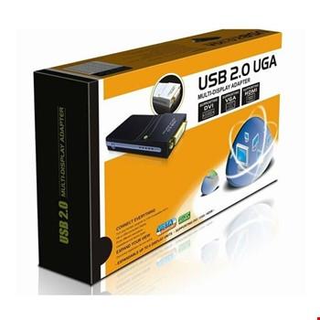 USB 2.0 UGA Multidisplay Adaptör Ekran Çoklayıcı VGA HDMI DVI