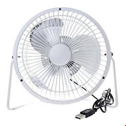 Usb Fan Vantilatör Metal Kasalı Sessiz Usb 360 Derece Dönebilir Renk: Beyaz