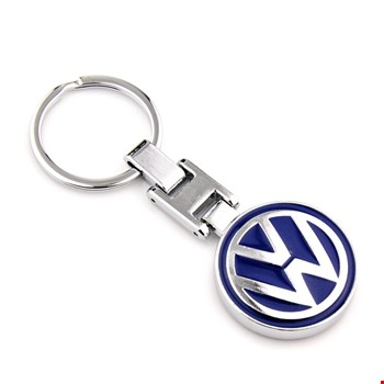 Volkswagen Lüks Krom Logo Amblemli Oto Anahtarlık