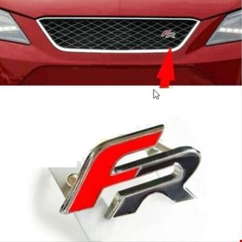 Seat FR Vidalı Logo Amblem Kırmızı F Siyah R