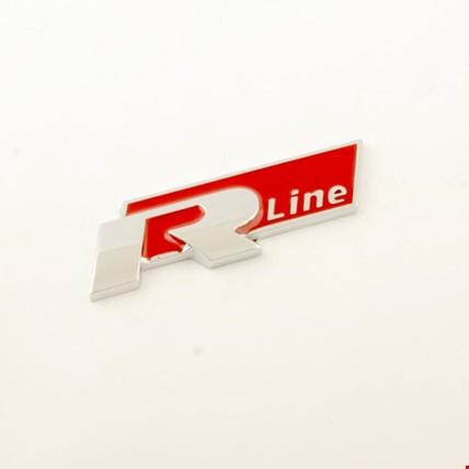 Volkswagen R-Line Bagaj Logo 3D Arma Metal Renk: Kırmızı