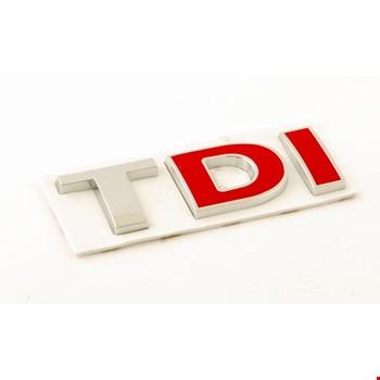 Vw TDI Amblem Metal Logo Dekoratif Paslanmaz Bagaj Logosu