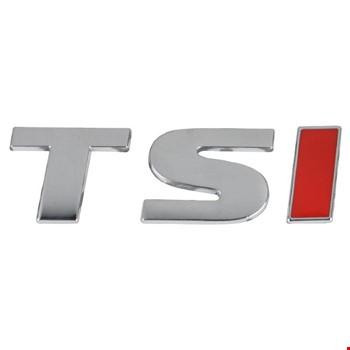 Vw TSI  Amblem Metal Logo Dekoratif Paslanmaz Büyük