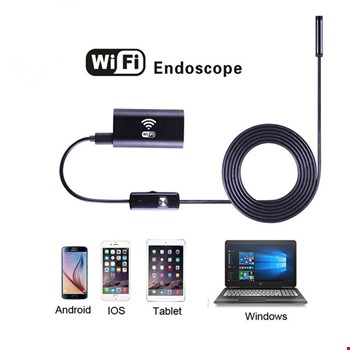 Wifi Endoskop Kablosuz Yılan Kamera 5 Metre Android İos Windows Mac
