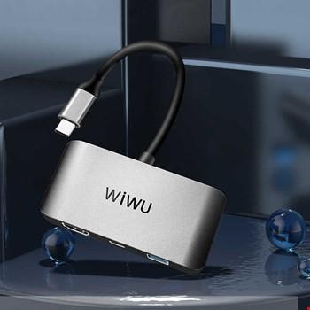 Wiwu Alpha C2H 3in1 Hdmi Usb 3.0 Type-C Şarj Girişli Adaptör