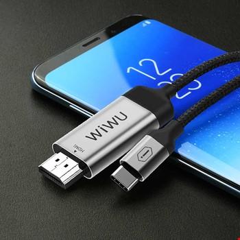 Wiwu X9 4k 2k Type-C to HDMI Görüntü Aktarım Kablosu 2mt