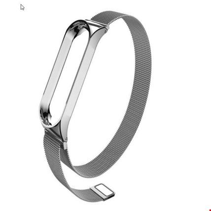 Xiaomi Mi Band 3 4 Akıllı Bileklik TME Kordon Kayış Hasır Metal Renk: Gümüş