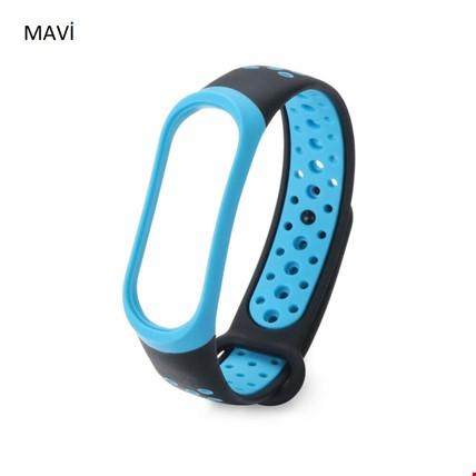 Xiaomi Mi Band 3 4 Akıllı Bileklik TME Kordon Kayış Sport Model Renk: Mavi
