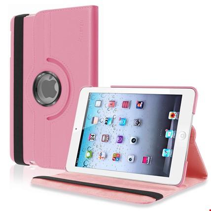 iPad Pro 9.7 360 Ayarlanabilir Dönebilen Kılıf Standlı Renk: Pembe